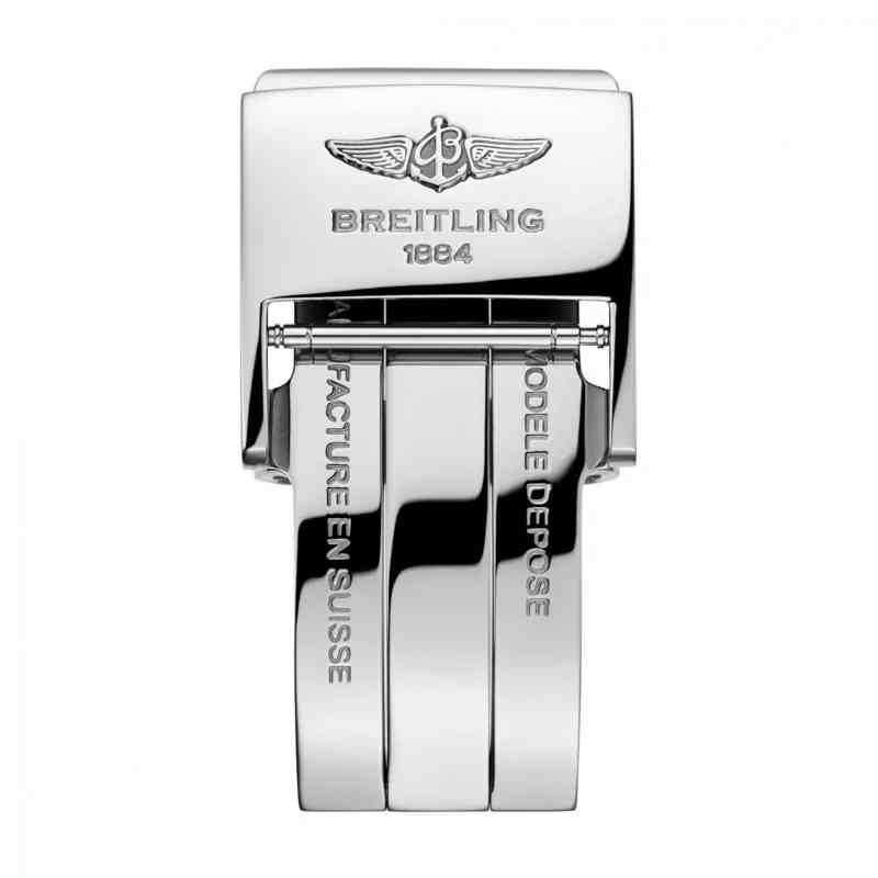 Breitling Transocean Chronograph Unitime White Leather (Calf) Folding Clasp