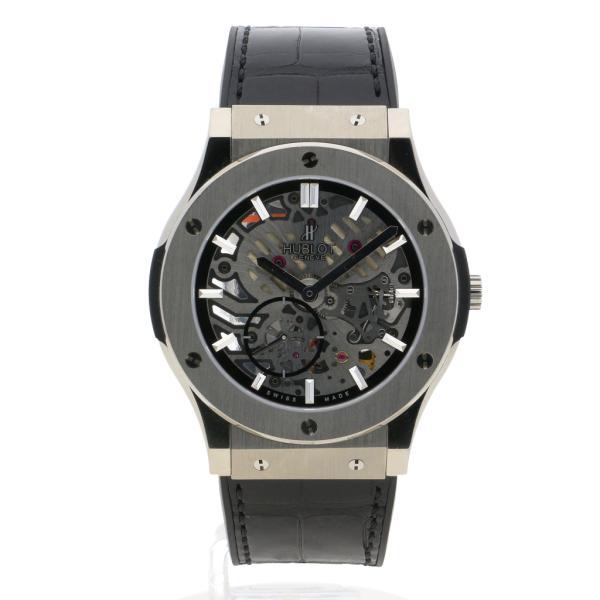 Hublot classic fusion ultra thin skeleton titanium amj watches for Classic skeleton watch