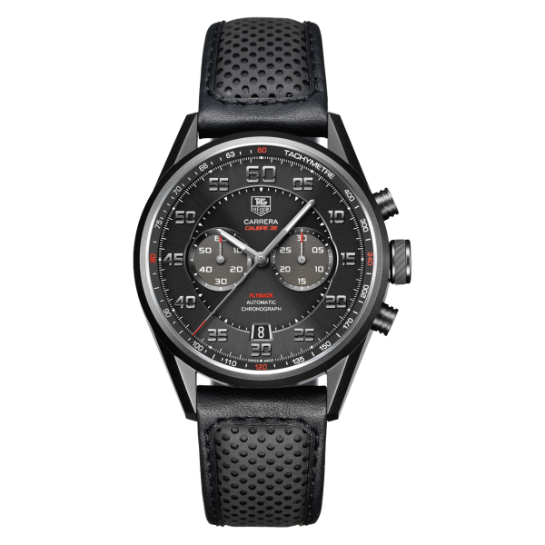 TAG Heuer Carrera Black Leather