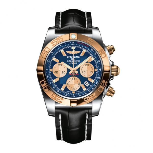 Breitling Chronomat 44 Blue Leather Tang Type
