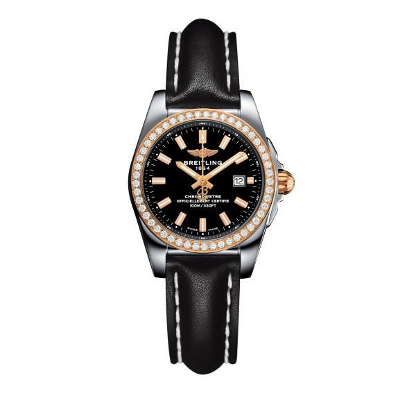 Breitling Galactic 29 Black Leather Tang Type