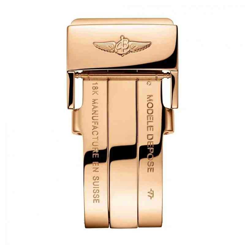 Breitling Galactic 29 Black Rose Gold Folding Clasp (Pilot)