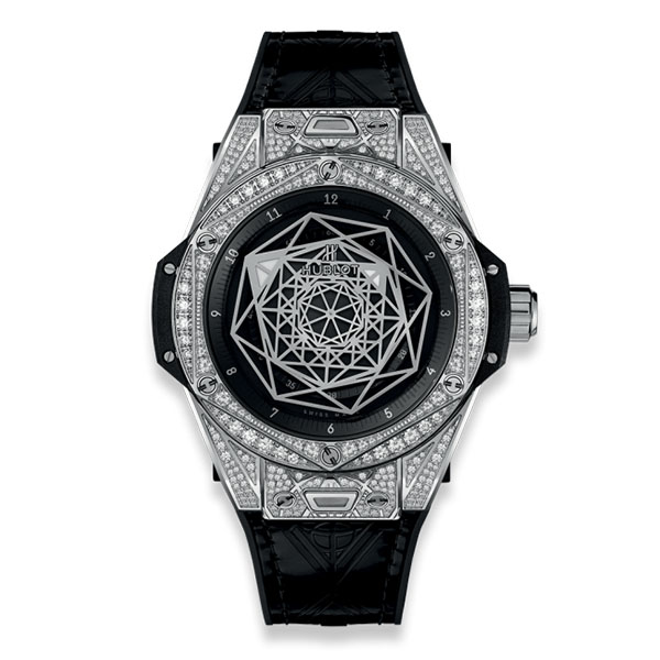 Hublot Big Bang Sang Bleu Steel Pave