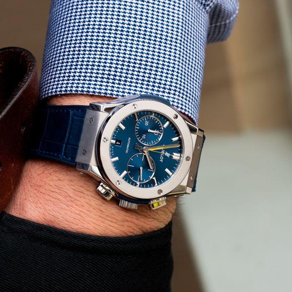 Hublot Classic Fusion Blue Chronograph Titanium