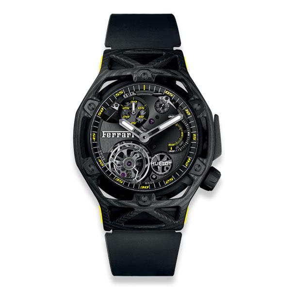Hublot Techframe Ferrari Tourbillon Chronograph Carbon Yellow