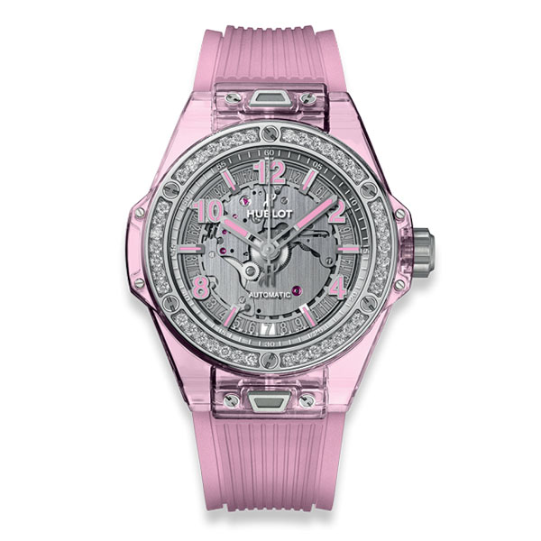 Hublot Big Bang One Click Pink Sapphire Diamonds