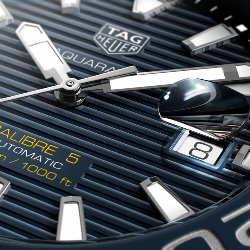 TAG Heuer Aquaracer Calibre 5 Blue Rubber