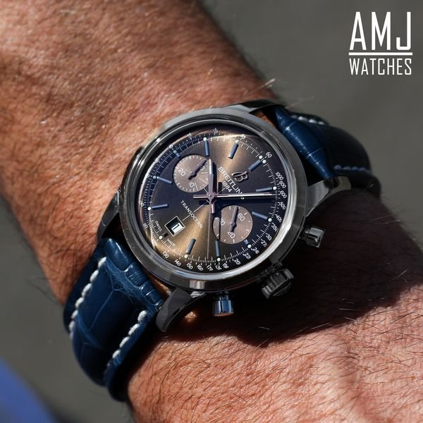 Breitling Transocean Chronograph Bronze Stainless Steel, Gold Folding Clasp