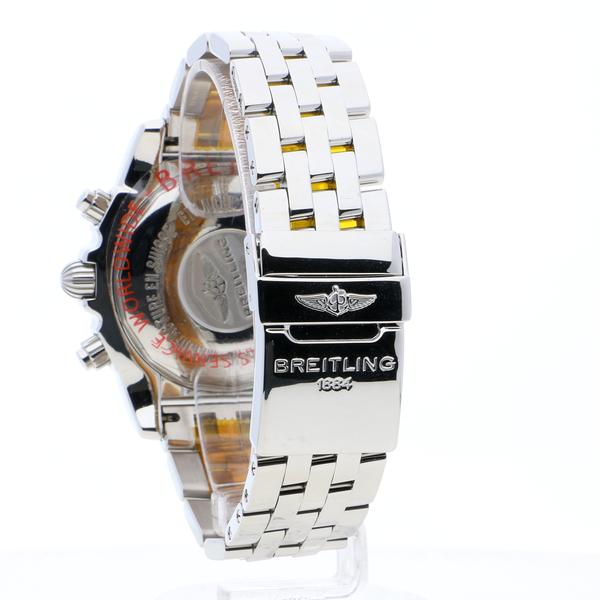Breitling Chronomat 44 GMT Black Stainless Steel (Pilot) Folding Clasp