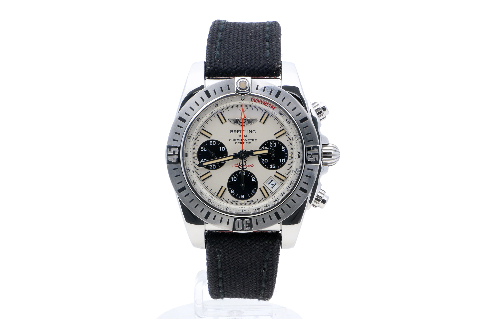 Breitling Chronomat 41 Airborne Silver Military Strap (Fabric) Folding Clasp