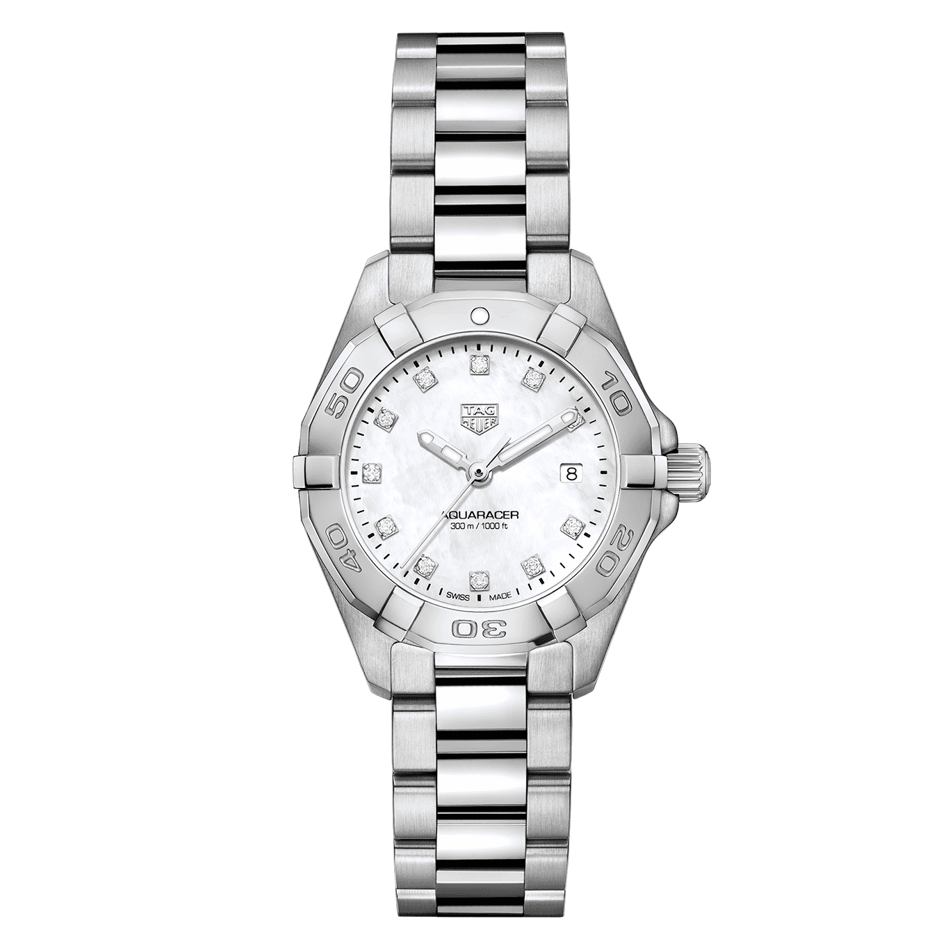 TAG Heuer Aquaracer Quartz White Mother of Pearl