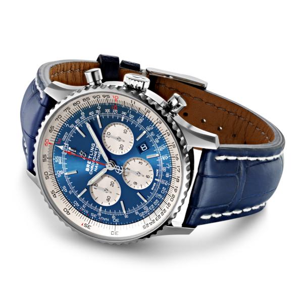 Breitling Navitimer 1 B01 Chronograph 46 Blue Leather (Crocodile) Tang Type