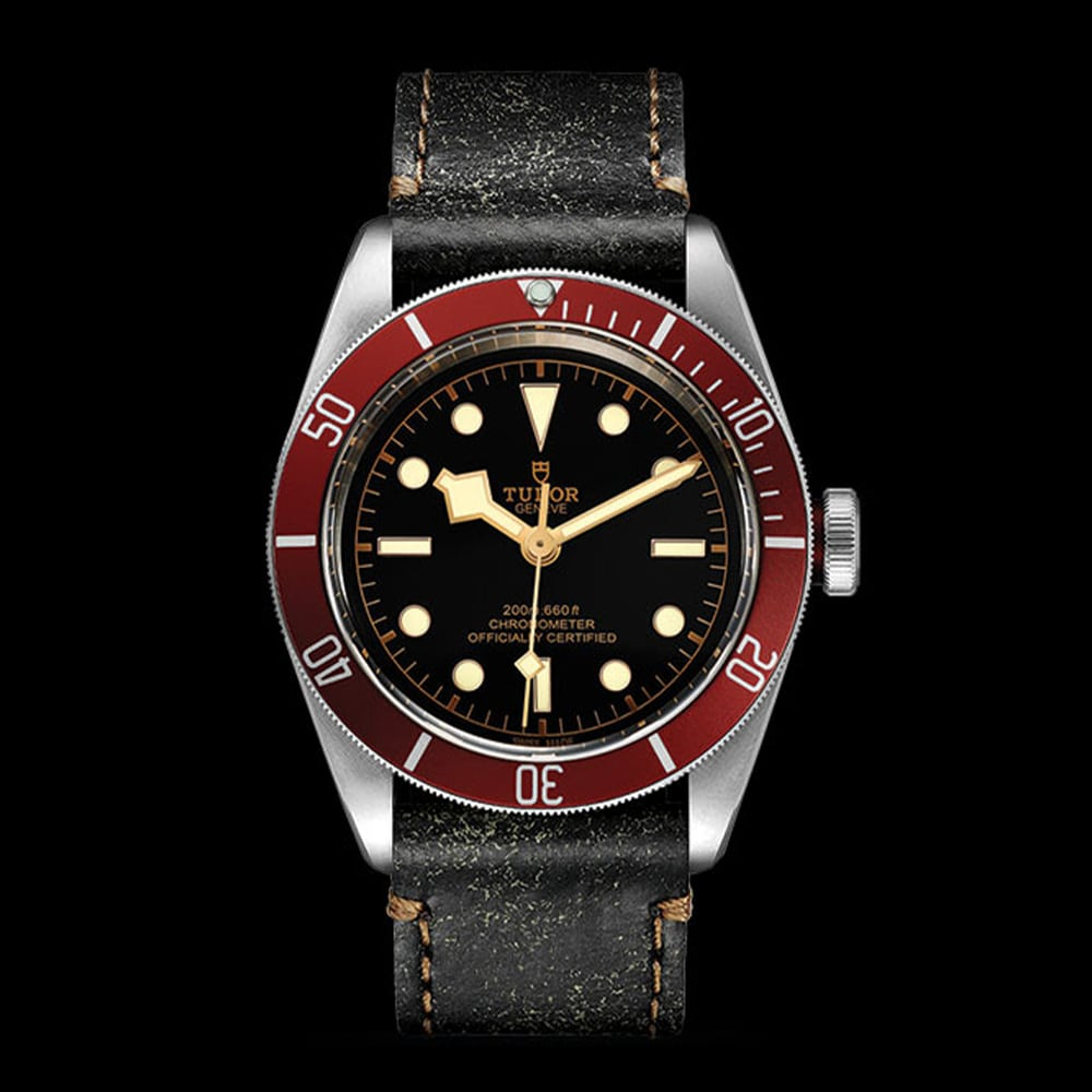 Tudor Black Bay Swiss Dive Leather Black 41mm Gents