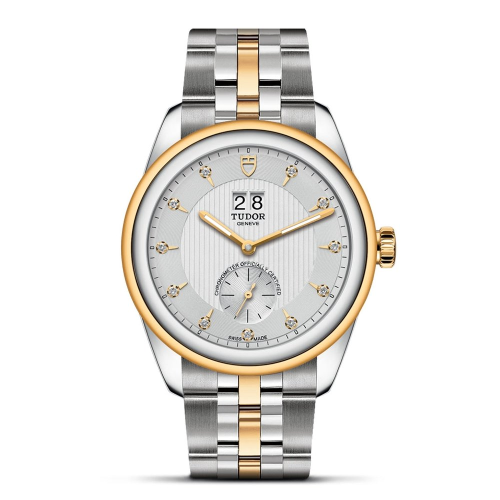 Tudor Glamour Double Date Stainless Steel, Gold Silver 42mm Gents
