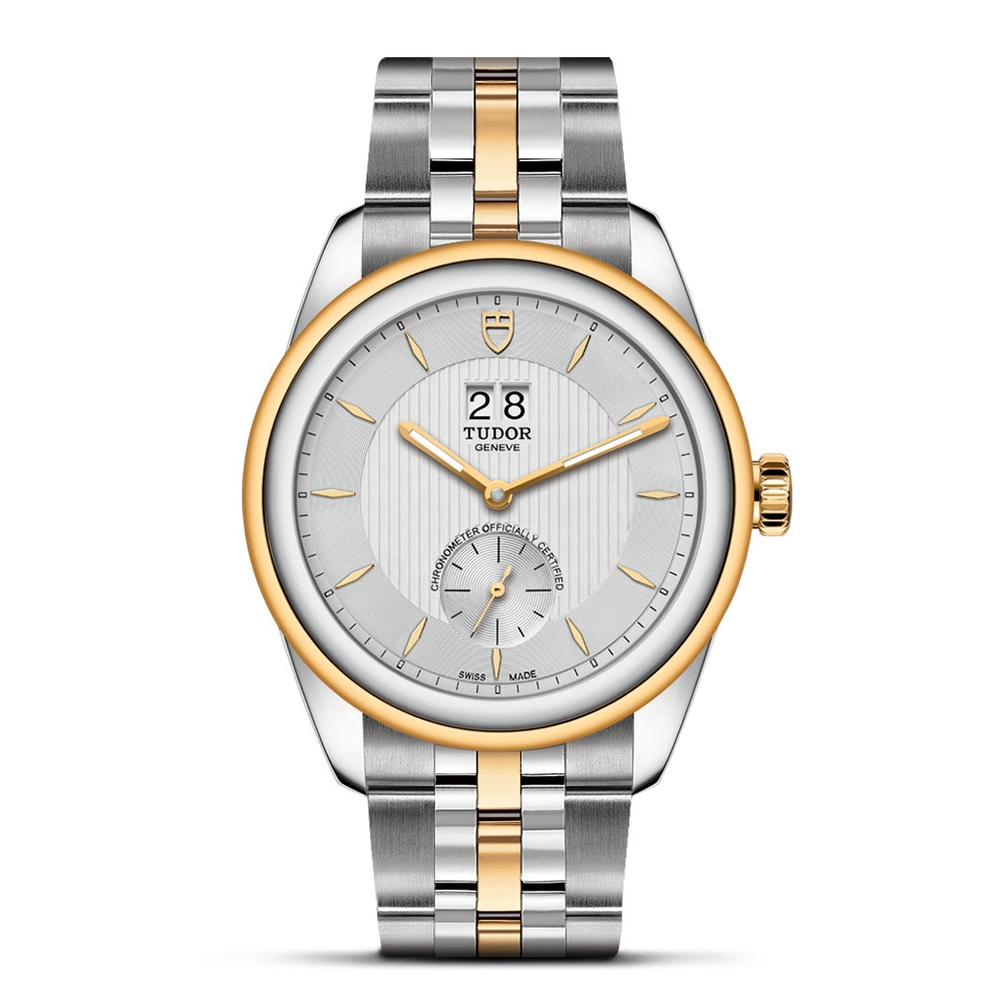 Tudor Glamour Double Date Stainless Steel, Gold Silver 41mm Gents