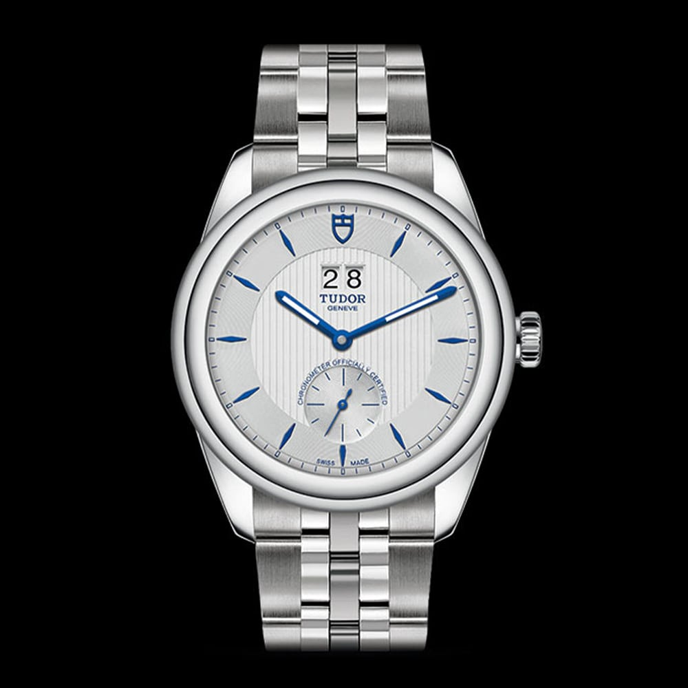 Tudor Glamour Double Date Stainless Steel Silver 41mm Gents