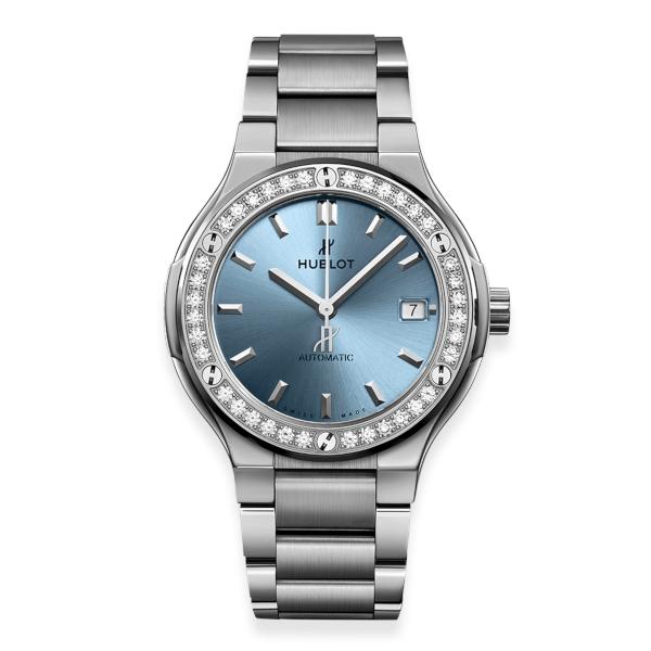 Hublot Classic Fusion Titanium Light Blue Bracelet