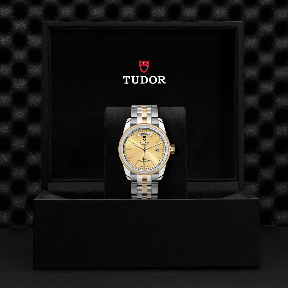 Tudor Glamour Day Date Stainless Steel, Gold Gold 39mm Gents Automatic