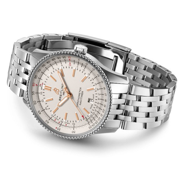 Breitling Navitimer Automatic 41 Silver Stainless Steel Folding Clasp