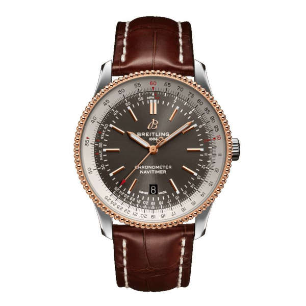Breitling Navitimer Automatic 41 Grey Leather (Alligator) Tang Type