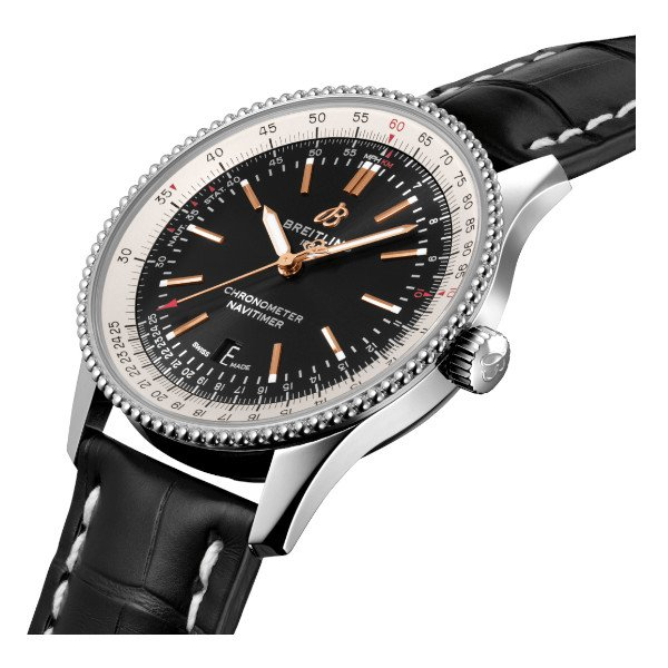 Breitling Navitimer Automatic 41 Black Leather (Alligator) Tang Type