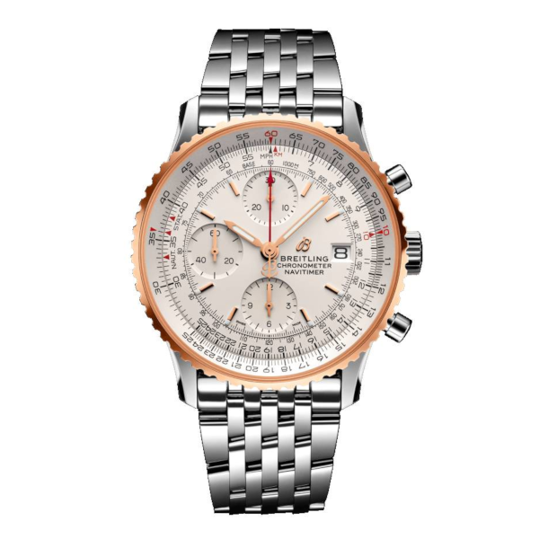 Breitling Navitimer 1 Chronograph 41 Silver Stainless Steel Folding Clasp