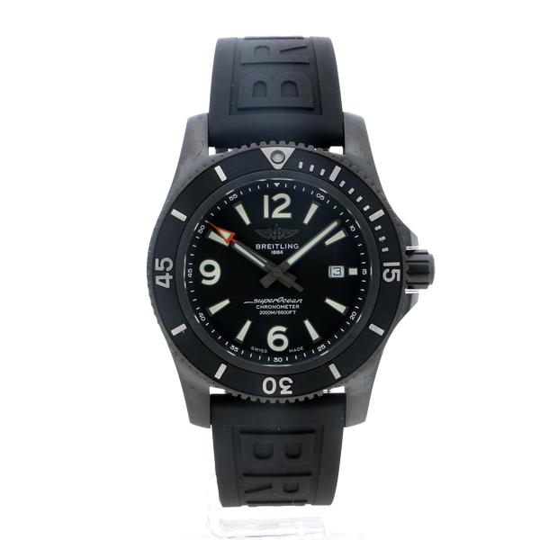 Breitling Superocean Automatic 46 Blacksteel Tang Clasp