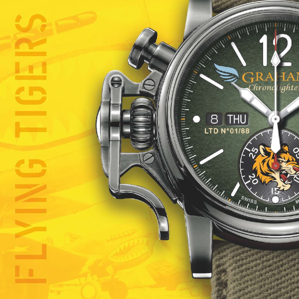 Graham Chronofighter Vintage Flying Tiger