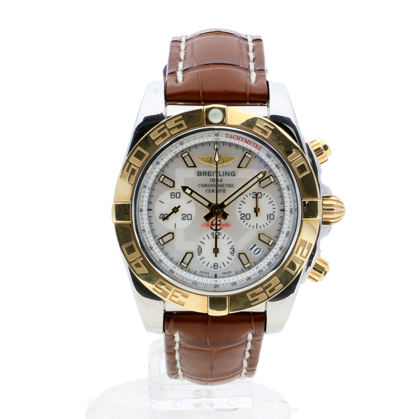 Breitling Chronomat 41 Mother Of Pearl Leather Tang Clasp