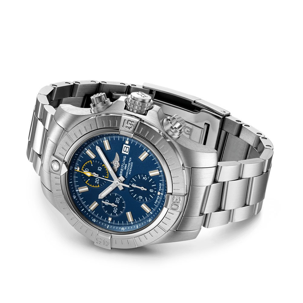 Breitling Avenger Chronograph 45 Automatic Stainless Steel Blue Folding Clasp