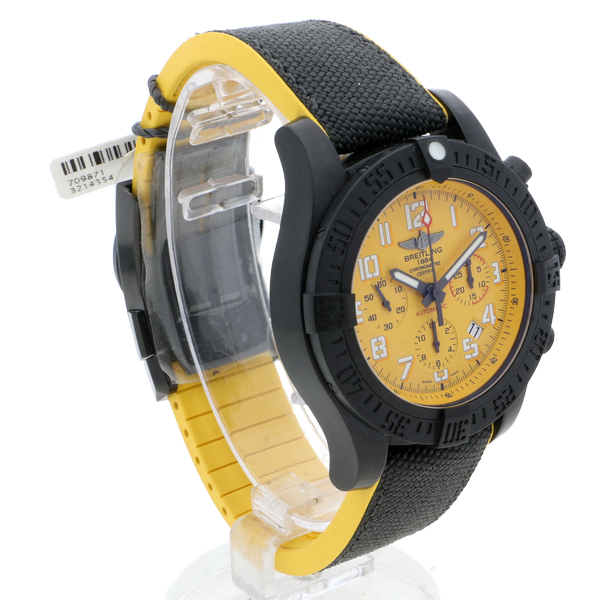 Breitling Avenger Hurricane 45 Automatic Military Strap (Fabric) Yellow Folding Clasp