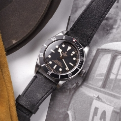 Tudor Black Bay Swiss Dive Leather Black 41mm Gents Automatic