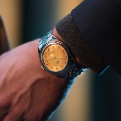 Tudor Glamour Double Date Stainless Steel, Gold Gold 42mm Gents