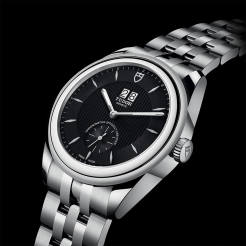 Tudor Glamour Double Date Stainless Steel Black 42mm Gents