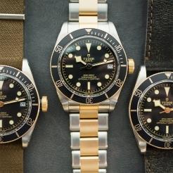 Tudor Black Bay S&G Stainless Steel, Gold Black 41mm Gents