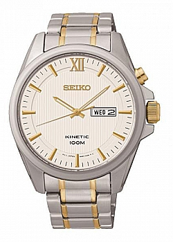 Seiko Kinetic Two-Tone Day and Date