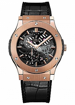 Hublot Classic Fusion Ultra-Thin Skeleton King Gold