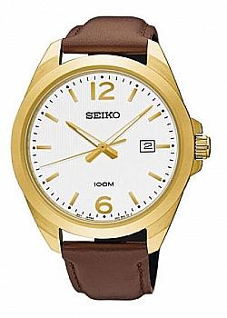 Seiko Quartz Gold Leather