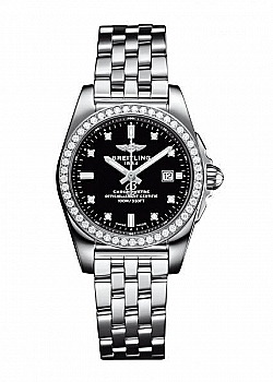 Breitling Galactic 29 Black Stainless Steel Folding Clasp