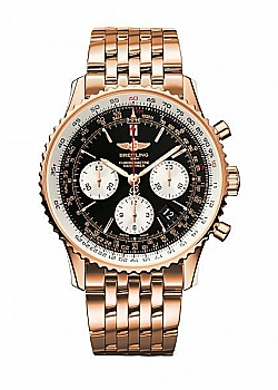 Breitling Navitimer 01 Black Red Gold
