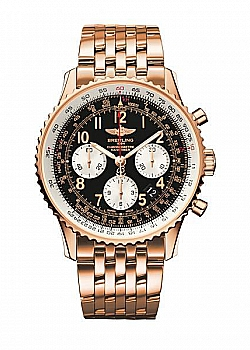 Breitling Navitimer 01 Black Red Gold Folding Clasp