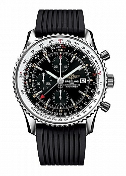 Breitling Navitimer 1 Chronograph GMT 46 Black Rubber Folding Clasp