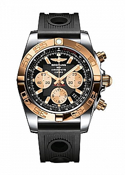 Breitling Chronomat 44 Black Rubber Folding Clasp