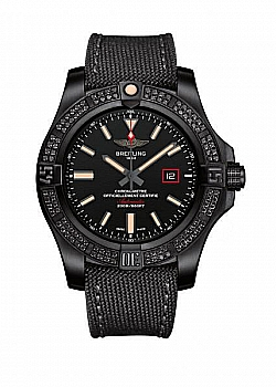 Breitling Avenger II Blackbird 44 Automatic Military Strap (Fabric) Black Tang Clasp