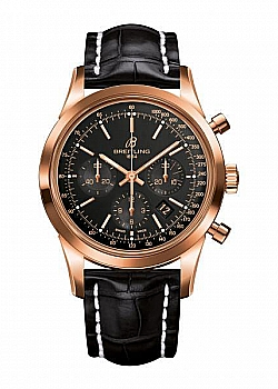 Breitling Transocean Chronograph Black Gold Tang-Type