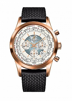 Breitling Transocean Chronograph Unitime White Rubber (Aero Classic) Folding Clasp