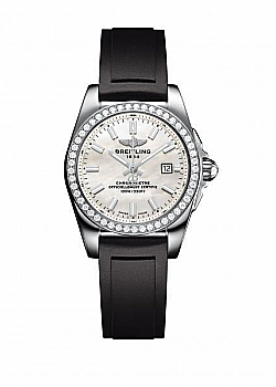 Breitling Galactic 29 Mother Of Pearl Leather Folding Clasp