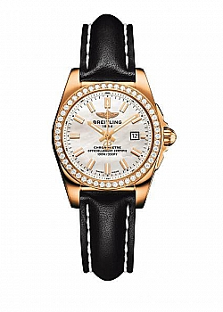 Breitling Galactic 29 Mother Of Pearl Leather Tang Type