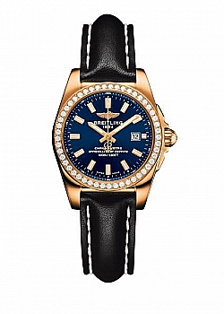 Breitling Galactic 29 Blue Leather Tang Type