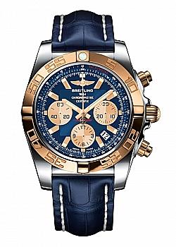 Breitling Chronomat 44 Blue Leather (Crocodile) Folding Clasp